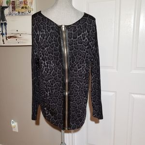 Sweaters - UNBRANDED animal print sweater, zipper on back
